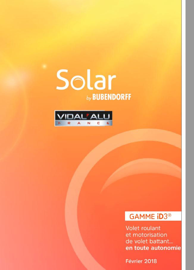 volet solaire bubendorff Vidal Alu