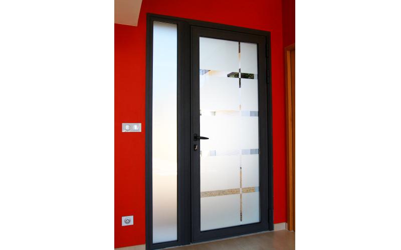 Porte d'entrée Vidal Alu Alès